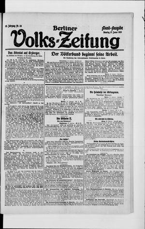 Berliner Volkszeitung vom 27.01.1920