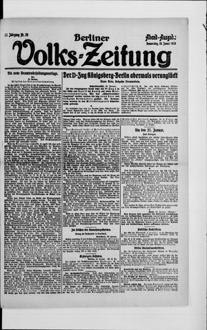 Berliner Volkszeitung vom 29.01.1920