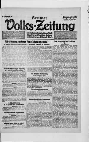 Berliner Volkszeitung vom 31.01.1920