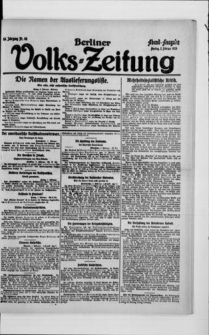 Berliner Volkszeitung on Feb 2, 1920