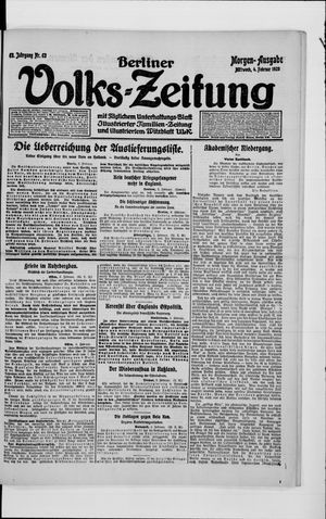 Berliner Volkszeitung vom 04.02.1920