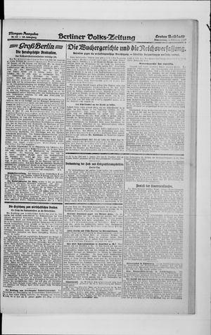 Berliner Volkszeitung vom 05.02.1920