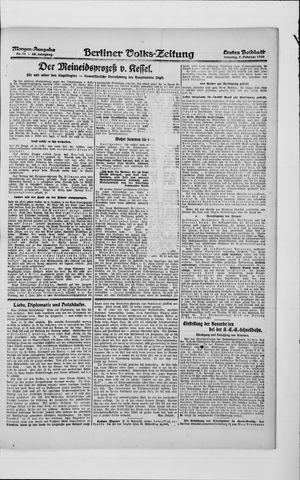 Berliner Volkszeitung vom 08.02.1920