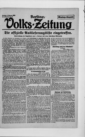 Berliner Volkszeitung vom 09.02.1920