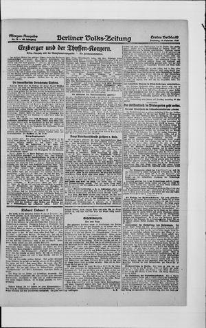Berliner Volkszeitung vom 10.02.1920