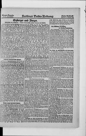 Berliner Volkszeitung vom 11.02.1920