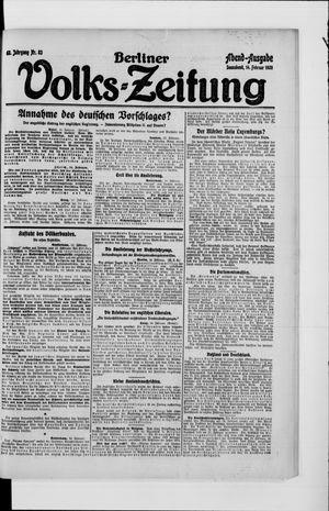 Berliner Volkszeitung on Feb 14, 1920