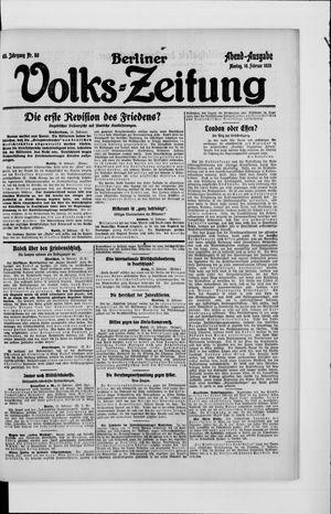 Berliner Volkszeitung vom 16.02.1920
