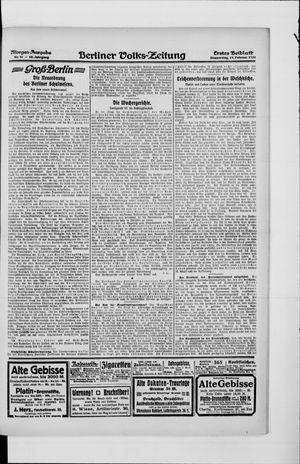 Berliner Volkszeitung vom 19.02.1920