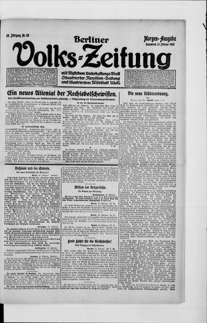 Berliner Volkszeitung on Feb 21, 1920