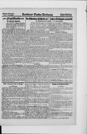 Berliner Volkszeitung vom 22.02.1920