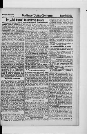 Berliner Volkszeitung vom 24.02.1920