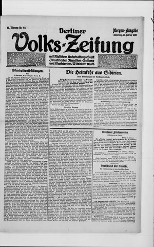 Berliner Volkszeitung on Feb 26, 1920