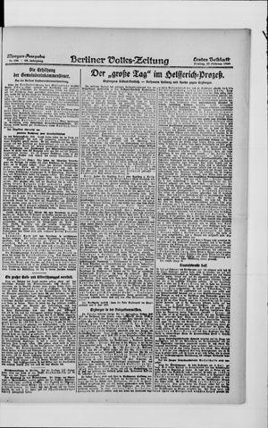 Berliner Volkszeitung vom 27.02.1920