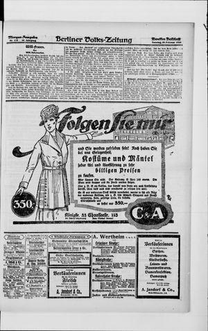 Berliner Volkszeitung vom 29.02.1920