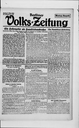 Berliner Volkszeitung vom 08.03.1920