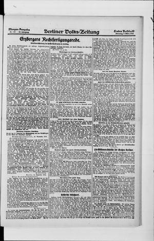 Berliner Volkszeitung vom 09.03.1920