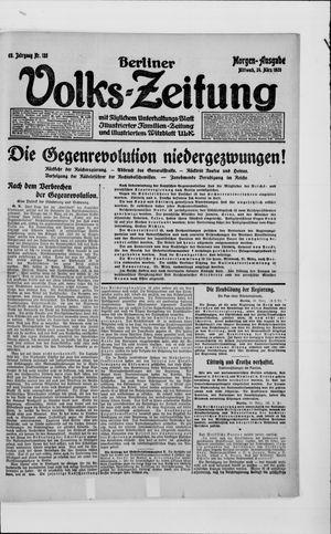 Berliner Volkszeitung vom 24.03.1920