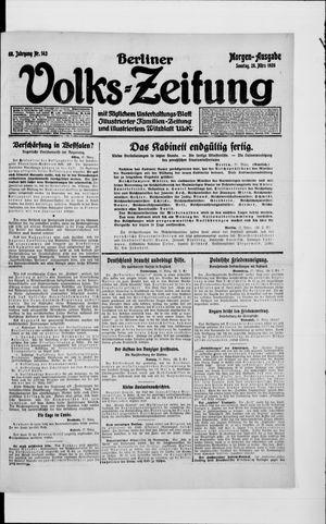 Berliner Volkszeitung vom 28.03.1920