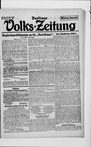 Berliner Volkszeitung vom 29.03.1920