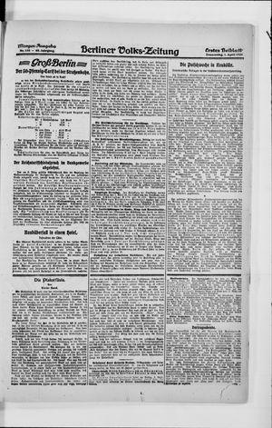 Berliner Volkszeitung vom 01.04.1920