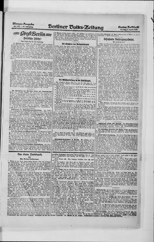Berliner Volkszeitung vom 02.04.1920