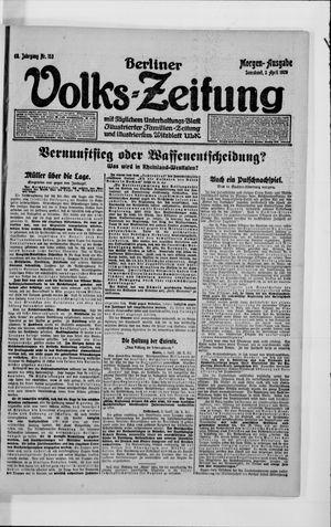 Berliner Volkszeitung vom 03.04.1920