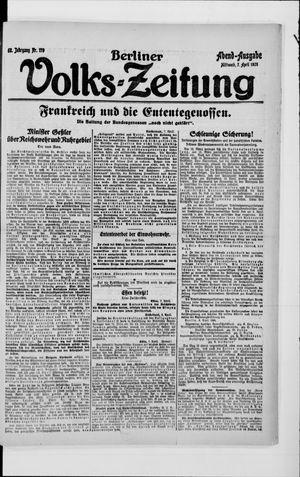 Berliner Volkszeitung vom 07.04.1920