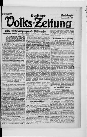 Berliner Volkszeitung vom 08.04.1920
