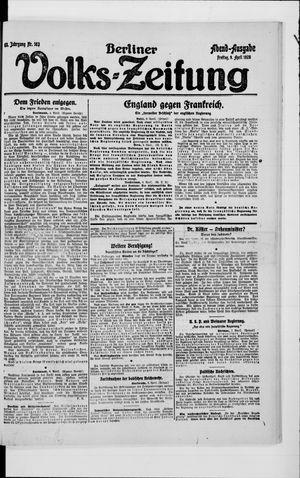 Berliner Volkszeitung vom 09.04.1920