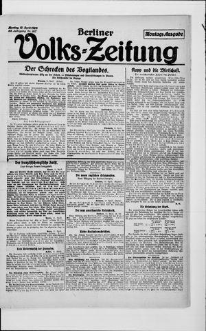 Berliner Volkszeitung vom 12.04.1920
