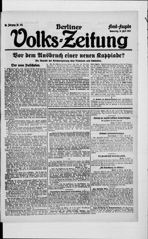 Berliner Volkszeitung on Apr 15, 1920