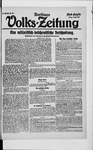 Berliner Volkszeitung vom 16.04.1920