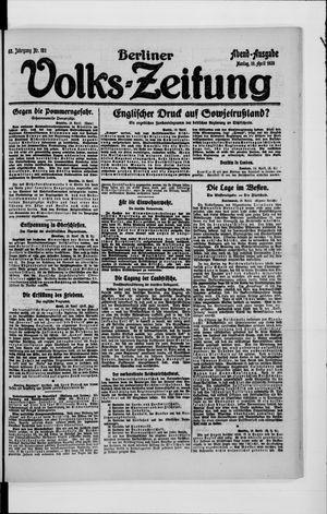 Berliner Volkszeitung vom 19.04.1920