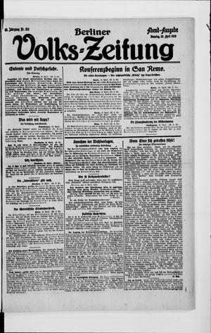 Berliner Volkszeitung vom 20.04.1920