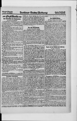 Berliner Volkszeitung vom 21.04.1920