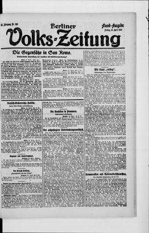 Berliner Volkszeitung vom 23.04.1920