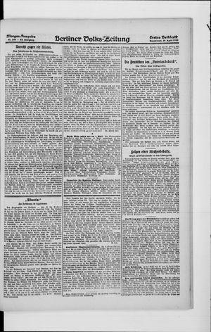 Berliner Volkszeitung vom 24.04.1920