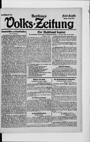 Berliner Volkszeitung vom 26.04.1920