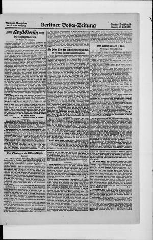 Berliner Volkszeitung vom 27.04.1920