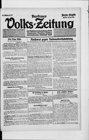 Berliner Volkszeitung vom 28.04.1920