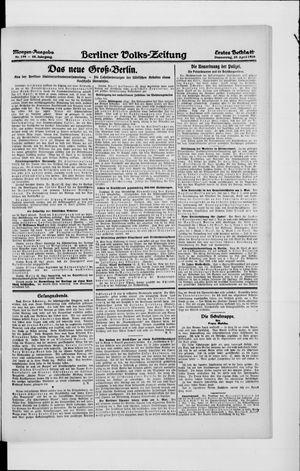 Berliner Volkszeitung vom 29.04.1920