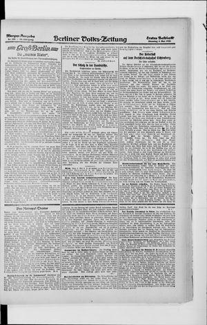 Berliner Volkszeitung vom 04.05.1920