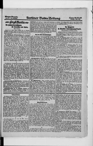 Berliner Volkszeitung vom 07.05.1920
