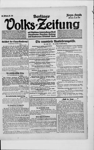 Berliner Volkszeitung on May 12, 1920