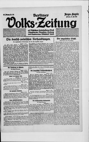 Berliner Volkszeitung on May 19, 1920