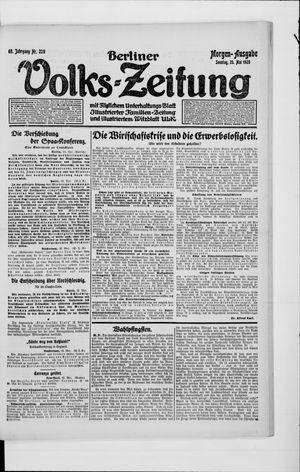 Berliner Volkszeitung vom 23.05.1920