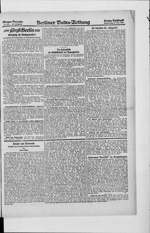 Berliner Volkszeitung vom 27.05.1920