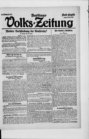 Berliner Volkszeitung vom 28.05.1920