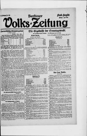 Berliner Volkszeitung on Jun 7, 1920